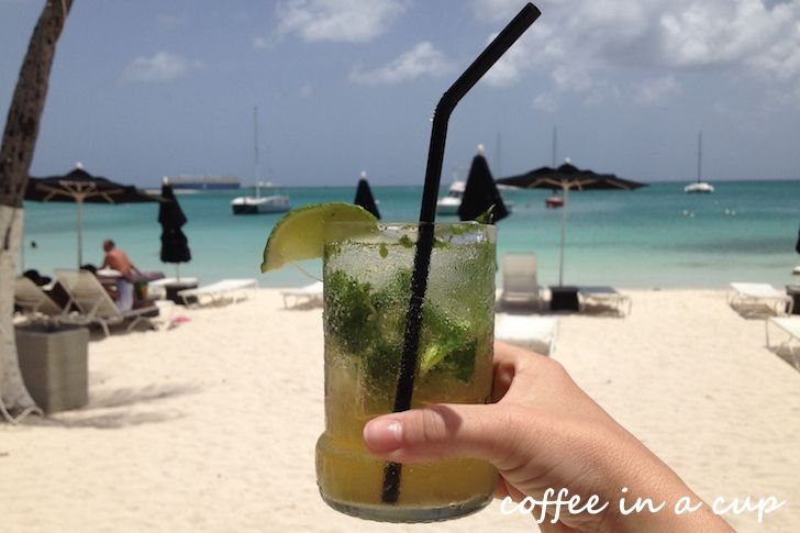 mojito @ reflexions beach bar & restaurant in aruba