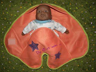 Du fil et mon...: Tuto couverture bébé nomade poupée ! Couture facile
