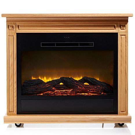 Heat Surge Roll n Glow™ Amish Made LED Fireplace