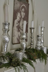 Anyone recognize the artist of this painting? Faded Charm: ~Christmas Mantel~