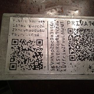 A Stainless Steel Bitcoin Wallet