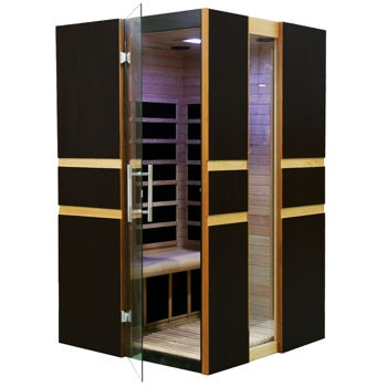 Golden Designs Paris 2-person FAR Infrared Sauna...want this for Xmas!