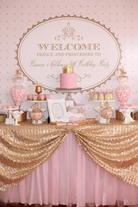 Gold & Pink Royal Princess Party. Also check out my cute tutu and party to make your party a hit:) www.partiesandfun.etsy.com