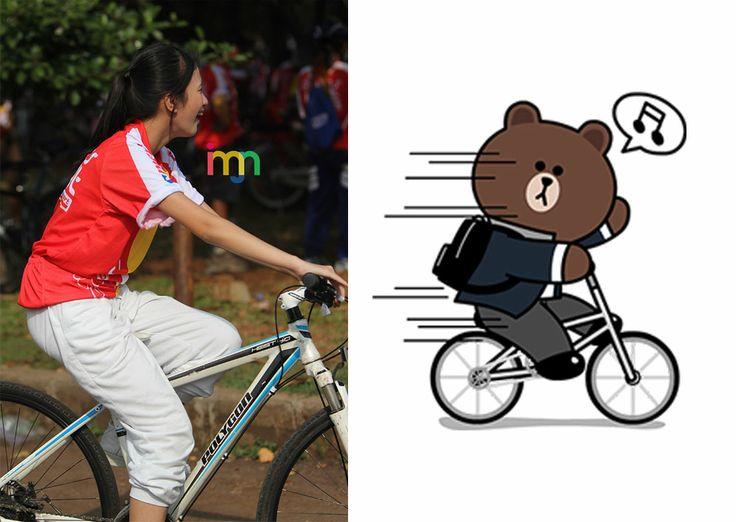 """Ratu Vienny Fitrilya (Team KIII) - """"Bicycle"""" Brown"""