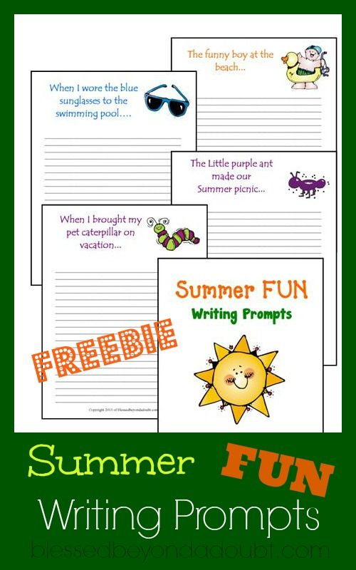 FREE summer writing prompts! Keep your kiddos writing this summer!