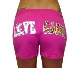 """""""LOVE CAMO"""" Yoga Shorts - Pink"""