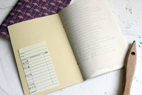 Vintage inspired handmade mini notebook jotter by archivioGotico, €5.50