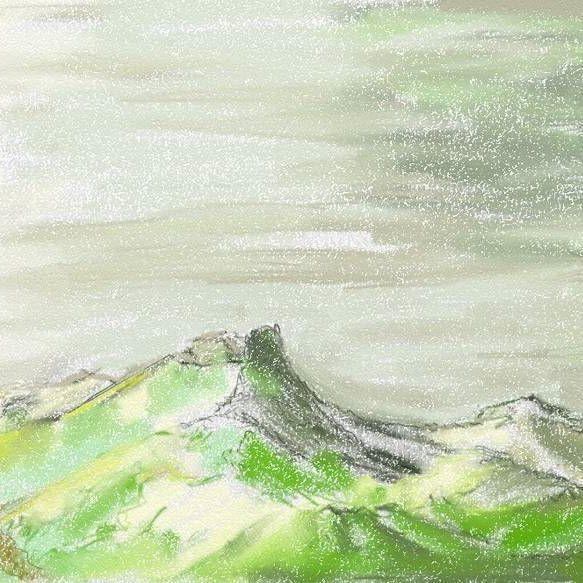 Рисовала сегодня в метро)))  Назвала эти горы Белыми горами. Чуть ли не историю уже с ними придумала:))  #рисунок #рисовать #планшет #асус #стилус #artrage