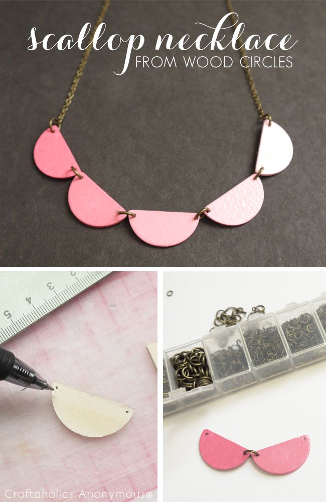 57 best wood wood images on pinterest bricolage craft ideas and diy scallop necklace tutorial solutioingenieria Gallery
