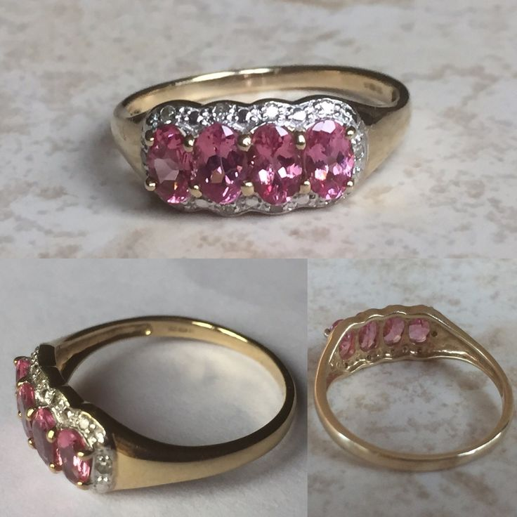 This pretty pink sapphire/ruby ring is now reduced. She is such a pretty feminine piece.