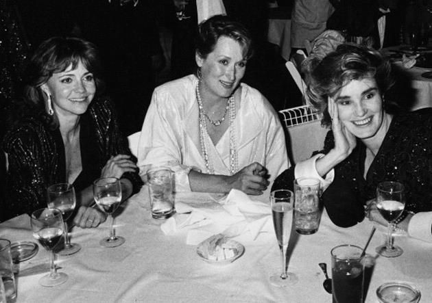 Here's a photo of Sally Fields, Meryl Streep, and Jessica ...