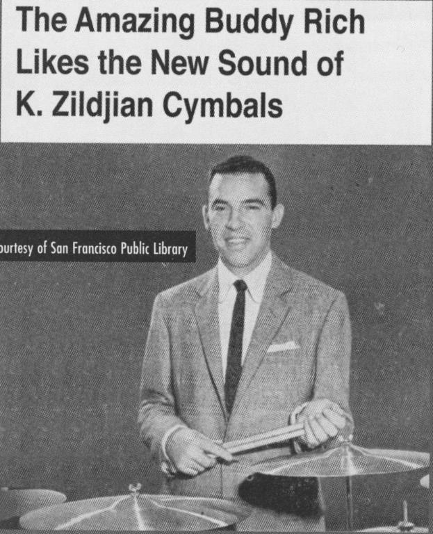 Buddy Rich - K, Zildjian vintagedrumforum.com