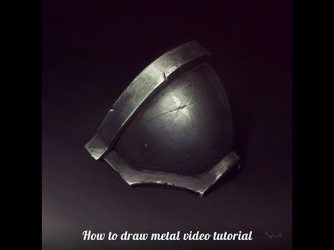 Sephiroth-art | How to Draw Metal - YouTube   ★ Find more at http://www.pinterest.com/competing/