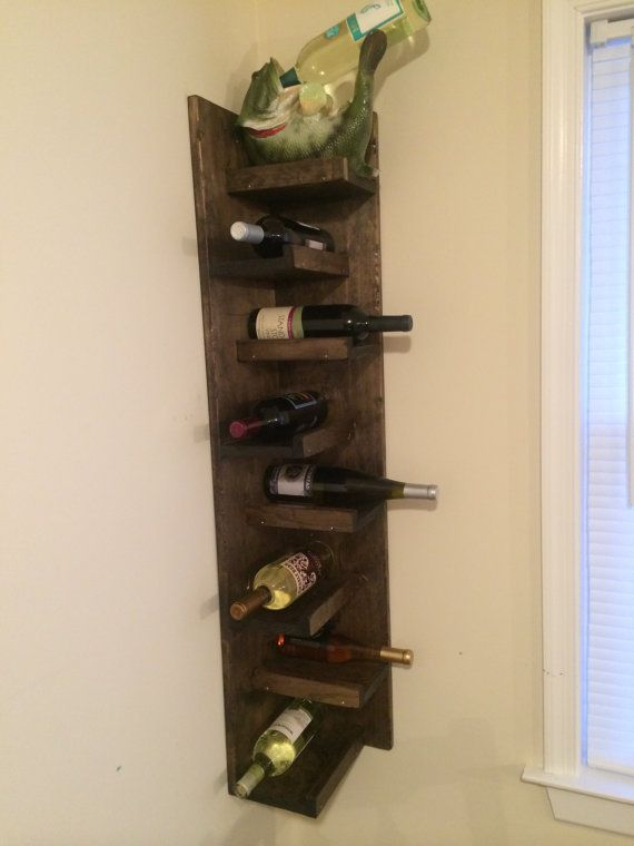 corner wall wine rack by on etsy