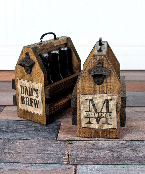 Monogram Beer Carrier Beer Tote Six Pack Carrier Personalized Beer Carrier Groomsman Gift Beer Opener Magnetic Beer Opener Beer Opener Beer Caddy