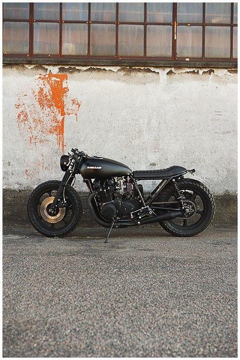 Kawasaki Cafe Racer #motorcycles #caferacer #motos   caferacerpasion.com