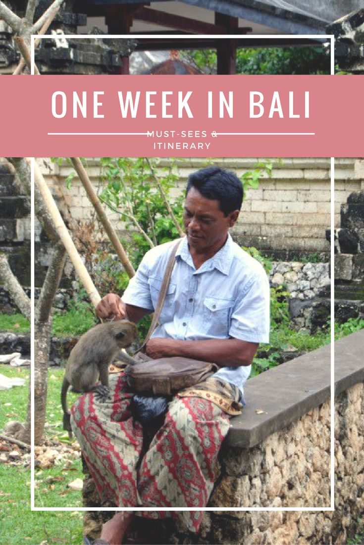 Your ultimate one week itinerary for Bali - travel blog/ travel guide by a female solo traveler. Bali is a dream destination with lots of different things to see and do. It's simultaneously party and detox destination, action and calm, blue water, white beaches, green rice terraces.