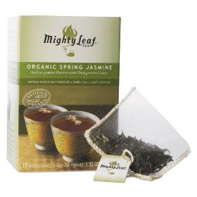 Mighty Leaf Tea Whole Leaf Tea Pouches, Organic Spring Jasmine, 15/Box #Tea