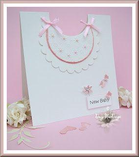 Daizy-Mae's-Crafty blog: Pink baby bib card  used nestable dies