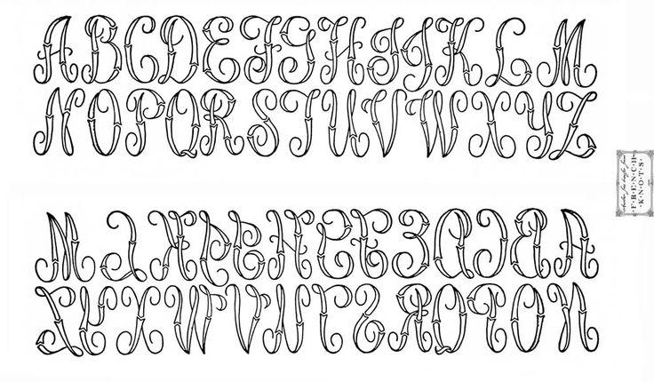 Moldes de Letras Para Bordar A Mano
