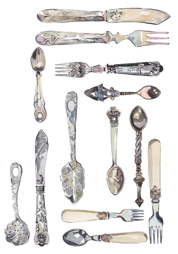 Holly Exley Illustration: Collections - Cutlery