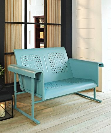 Take a look at this Caribbean Blue Veranda Loveseat Glider by Crosley on #zulily today!