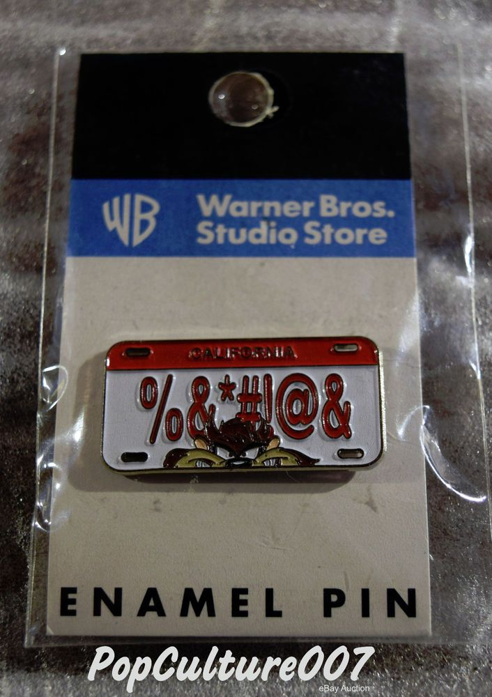 WARNER BROS STUDIO STORE ENAMEL PIN - TASMANIAN DEVIL CALIFORNIA LICENSE PLATE | Collectibles, Animation Art & Characters, Animation Characters | eBay!