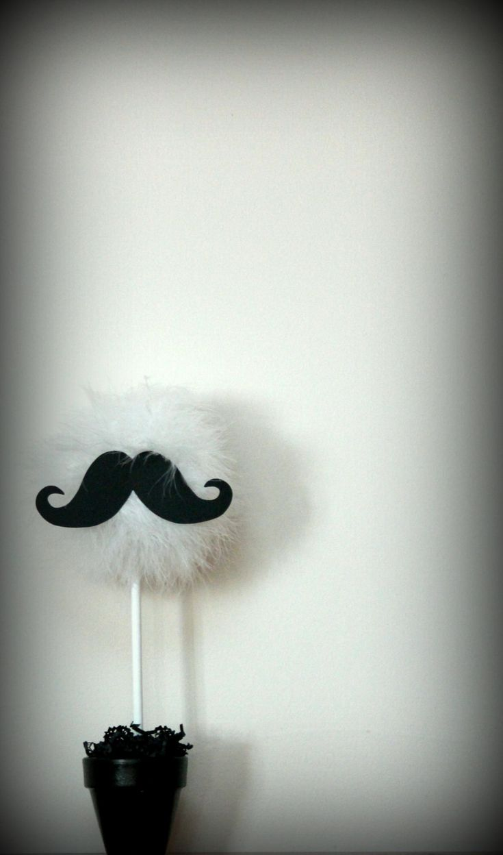 Mustache centerpiece and party decoration, choice of one, available in a variety of colors and combinations. $19.99, via Etsy.