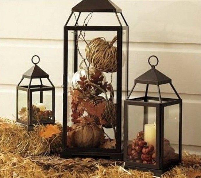 Идеи использования фонарей в осеннем декоре.