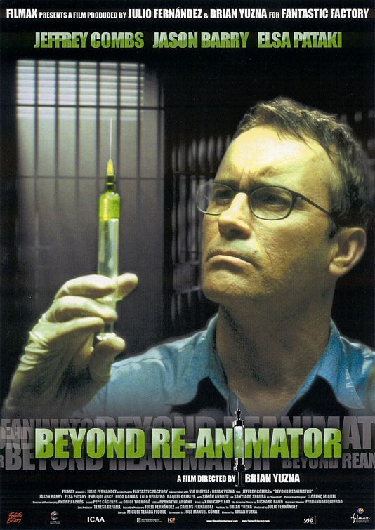 Beyond Re-Animator , starring Jeffrey Combs, Tommy Dean Musset, Jason Barry, Bárbara Elorrieta. Everyone's favorite mad scientist Herbert West is currently in jail after having state's evidence turned against him by his former assistant... #Comedy #Horror #Sci-Fi