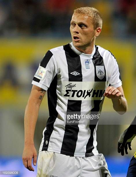 Zvonimir Vukic of PAOK FC in action during the Greek Super League match between Asteras Tripolis FC and PAOK FC held on May 22 2013 at the...