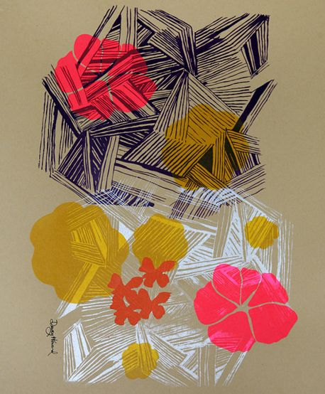 Screen Printed Art and Cards by Dewey Howard via Oh So Beautiful Paper