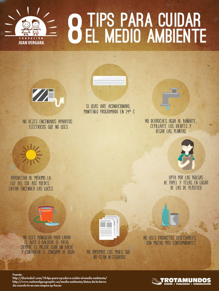 8 tips para cuidar el medio ambiente #ResponsabilidadSocial