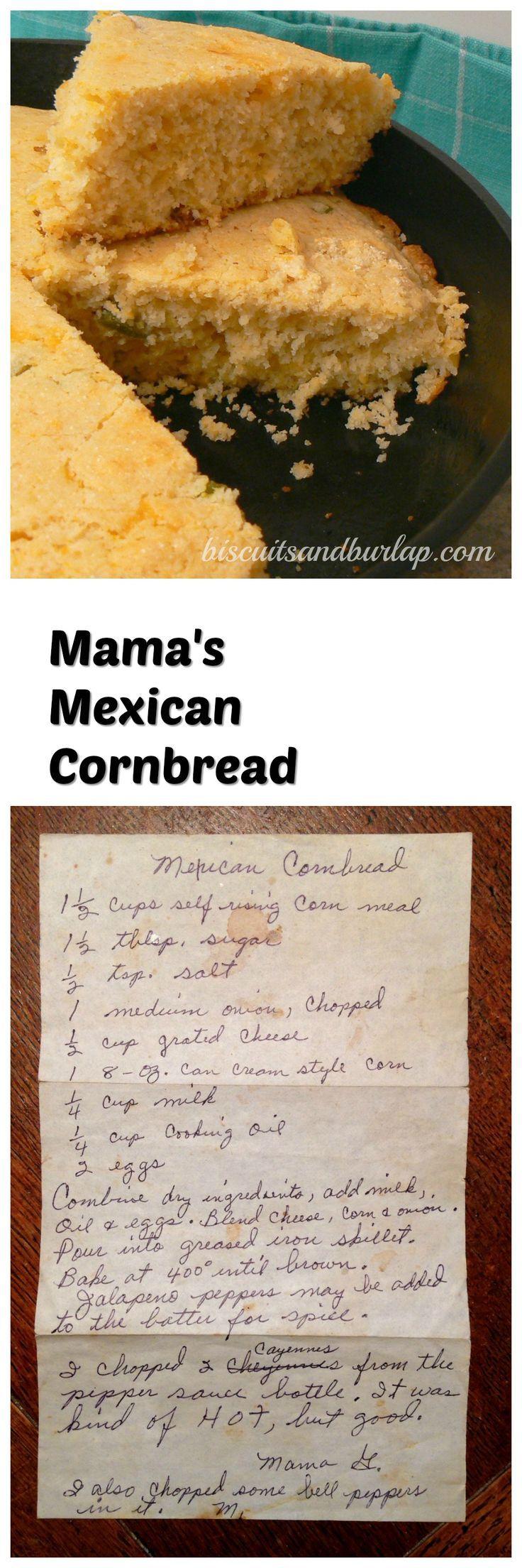 Mama's Mexican Cornbread (Baking Salmon Treats)