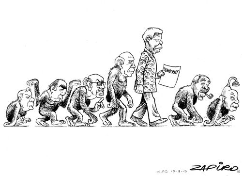This is the evolution of democracy. It means to me what it looks like hahahaha