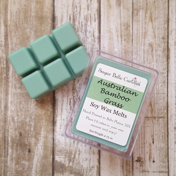 Australian Bamboo Grass Scented Wax Melts  by SugarBelleCandles