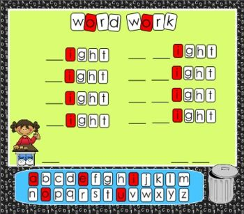 SMARTBoard Word Work Letter Tiles are easily customized for any type of word work. Makes a great small group center too! Complete directions included $