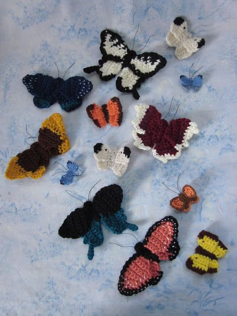 Butterflies are Free; at least, mine are :-) ~ free crochet pattern