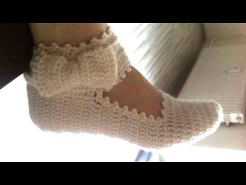 Cómo hacer pantufla con pulsera y moño para dama - YouTube