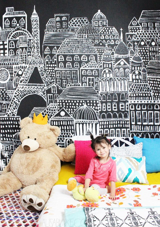 alisaburke: a statement wall for Lucy