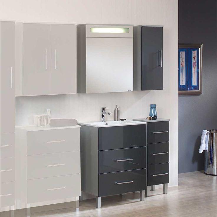 Ideal Badezimmer Set in Anthrazit Hochglanz teilig Jetzt bestellen unter