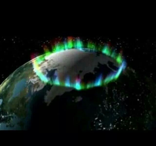 NASA pic of Northern lights Pure Heavenly....❤❤❤ Creater: God our Father !