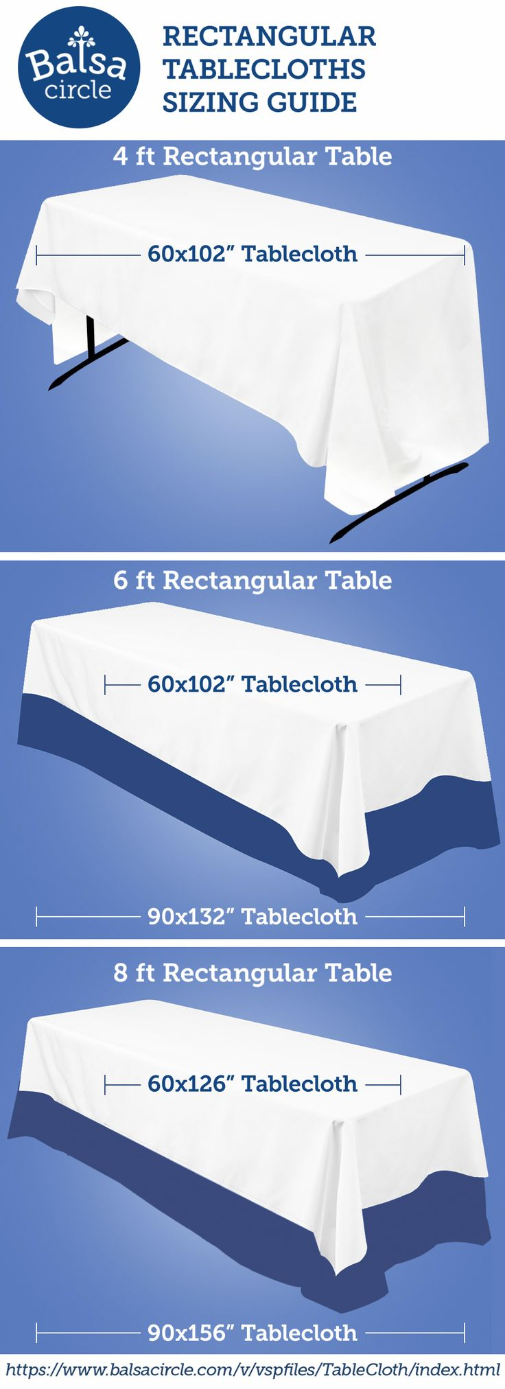 Find the right tablecloths for your banquet tables : https://www.balsacircle.com/v/vspfiles/TableCloth/index.html