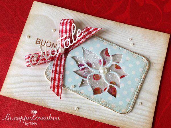 Shaker card con Stella di Natale - Tina