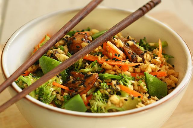 """Raw """"Stir Fry"""". I SERIOUSLY eat this at least twice a week. It's unreal and SOO easy. You can even ax the """"rice"""" and just add kelp noodles for an AMAZING pasta. Do try this! even if you're not raw this is wonderful. I won many over with this recipe :)"""