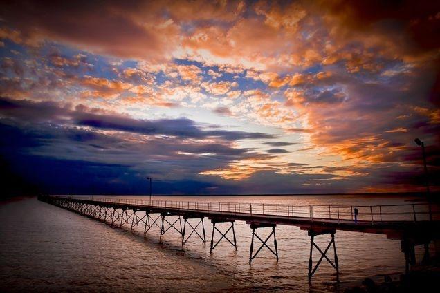 Ceduna wharf sunset South Australia