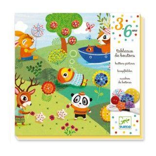 DJECO Детски комплект ателие за декорация с копчета 4 сезона