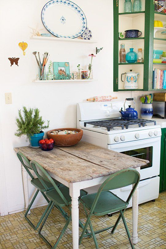 Use this idea of adding strong color to the utility room by painting shelf edge and any trim around the shelves. Very little paint used but makes an impact.