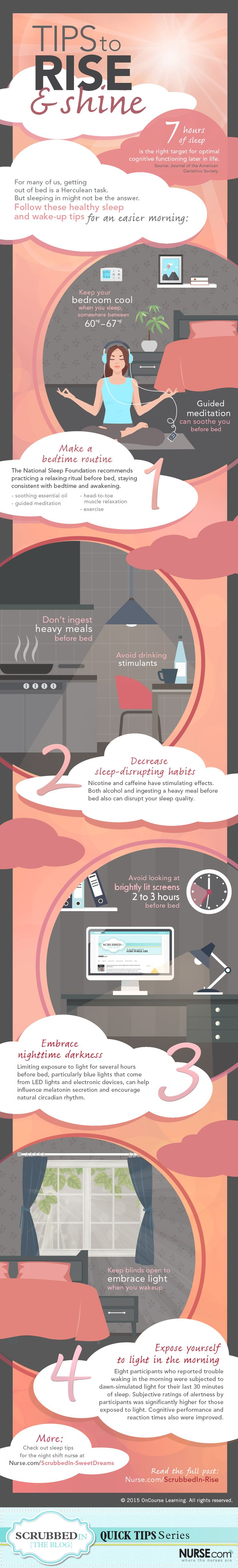 Out of bed, sleepyhead! Read & share our infographic with tips to make the most of your ZZZs.