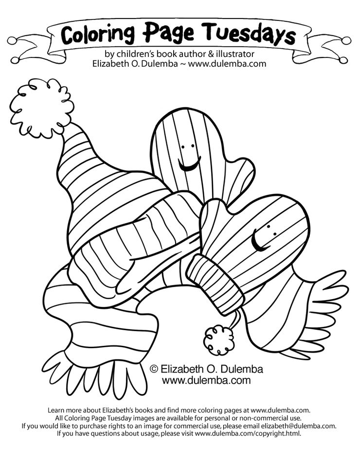 January Coloring Pages For Kindergarten : Best winter clothing images on pinterest